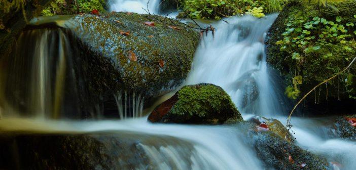 szary filtr fotograficzny wodospad