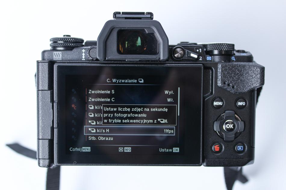 W aparatach z elektroniczną migawką, np. w bezlusterkowcach Olympusa, możesz nie tylko włączyć tryb zdjęć seryjnych, ale nawet ustalić liczbę zdjęć, jaką aparat ma wykonać po naciśnięciu migawki. W lustrzankach ta liczba jest z góry określona mechanicznymi możliwościami sprzętu.
