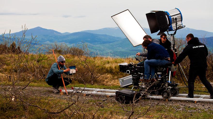 Fotosista Fotograf Na Planie Filmowym