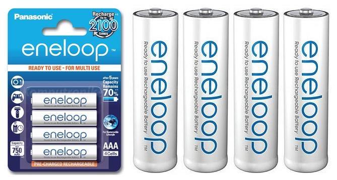 Akumulatory Panasonic Eneloop AAA 750mAh 2100 cykli