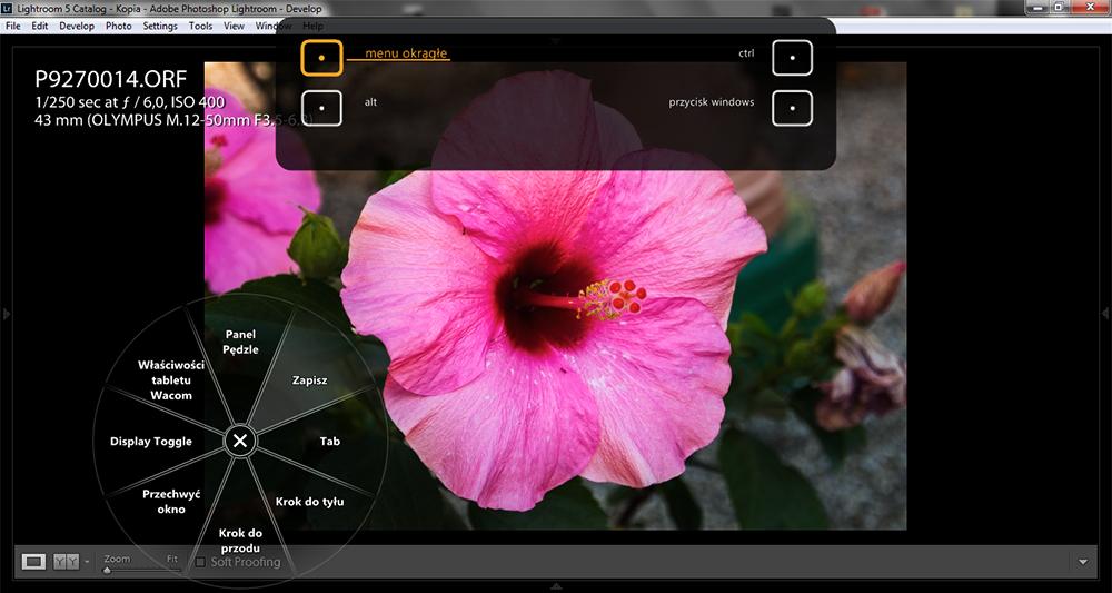 Tablet graficzny - menu