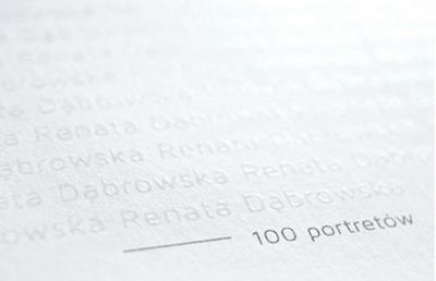 Renata Dąbrowska Ja, Renata Dąbrowska - 100 portretów