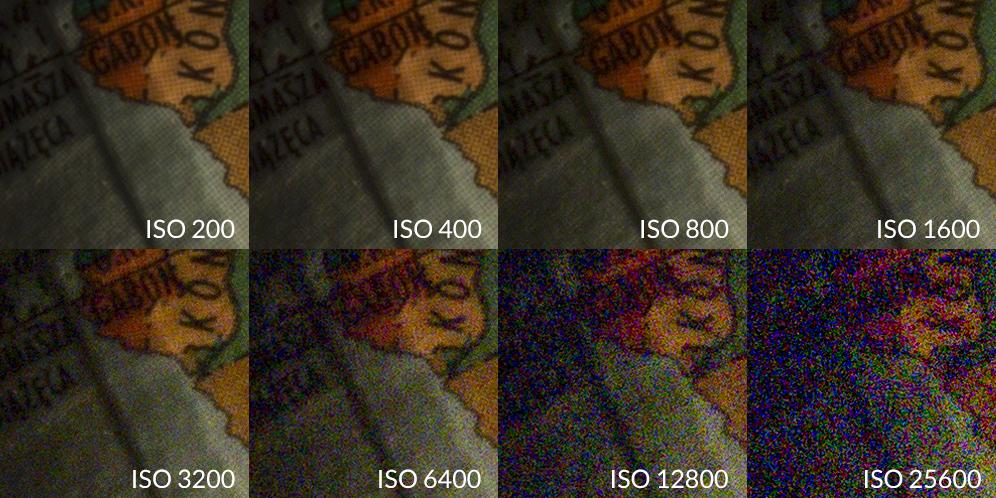 czułość ISO porównanie 100 procnet