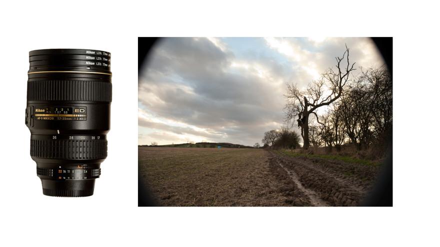 zastosowanie kilku nakręconych na siebie filtrów kołowych może doprowadzić do znacznego winietowania