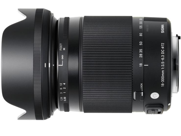 Sigmy C 18-300 mm f/3.5-f/6.3 DC Macro HSM