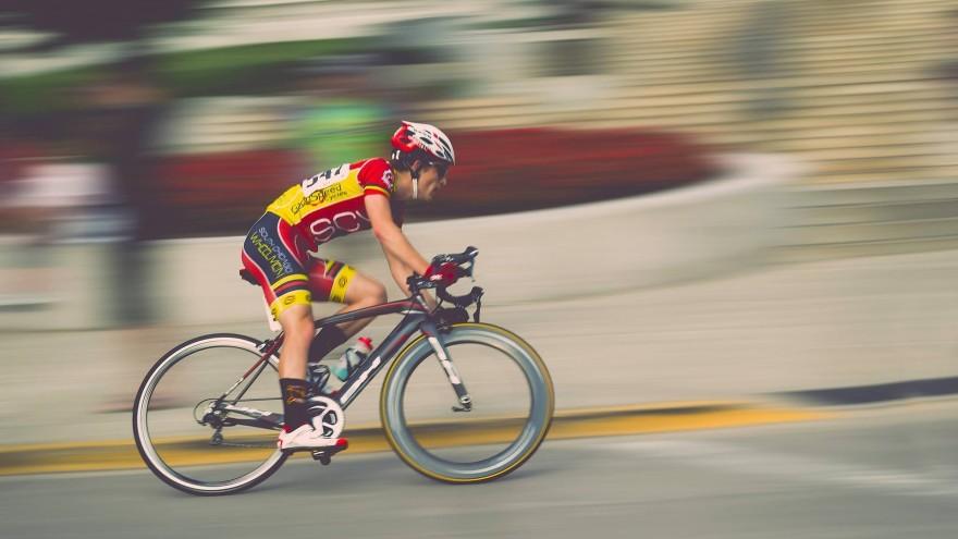 panoramowanie rowerzysta przykład