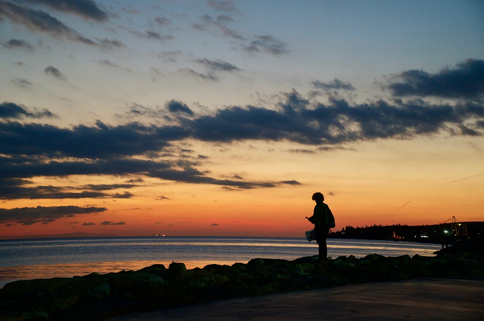 Turkey Male Dala Silhouette Sunset Beach