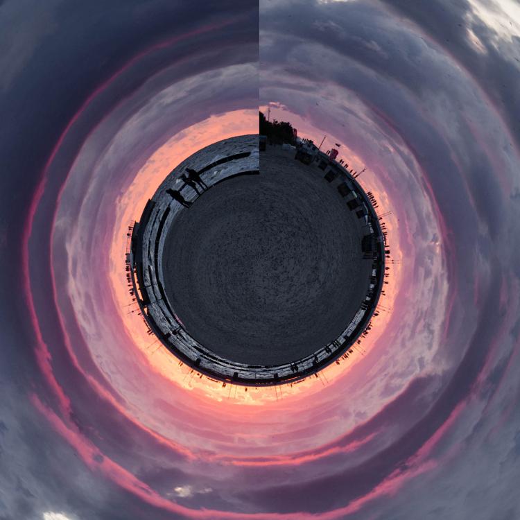mini planeta efekt morze z jednej