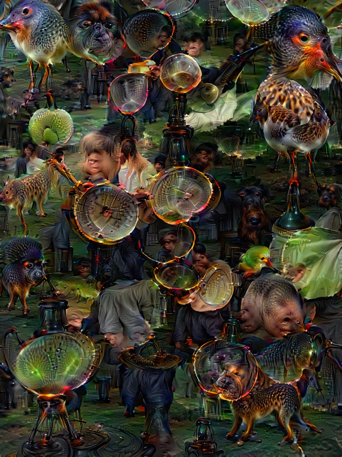 Powyższe dziwne zdjęcie jest rezultatem pracy narzędzia Deep Dream Generator. Zostało ono opracowane przez Google w celu zobrazowania tego, w jaki sposób uczą się maszyny. Efekt