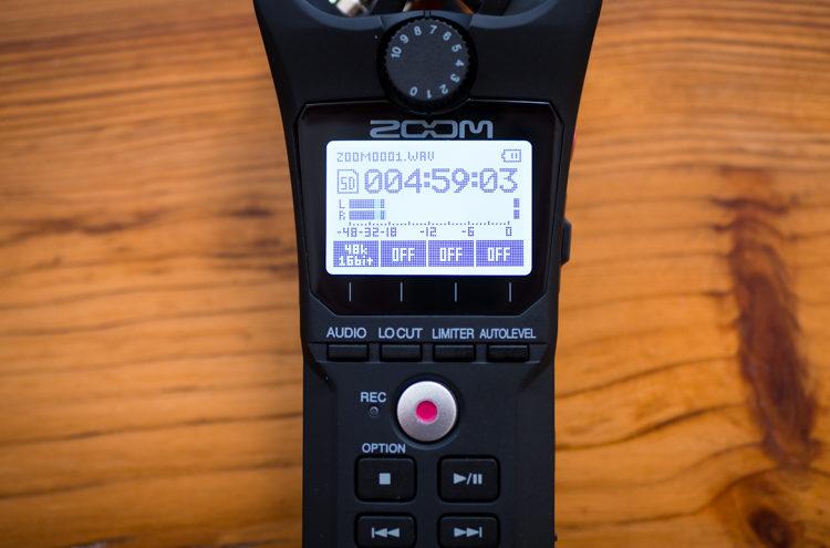 Zoom H1n - nowy wyświetlacz i przyciski funkcyjne