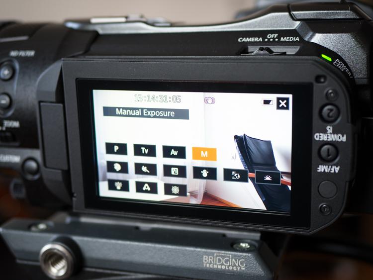 Canon Legria GX10 - mnogość trybów pracy