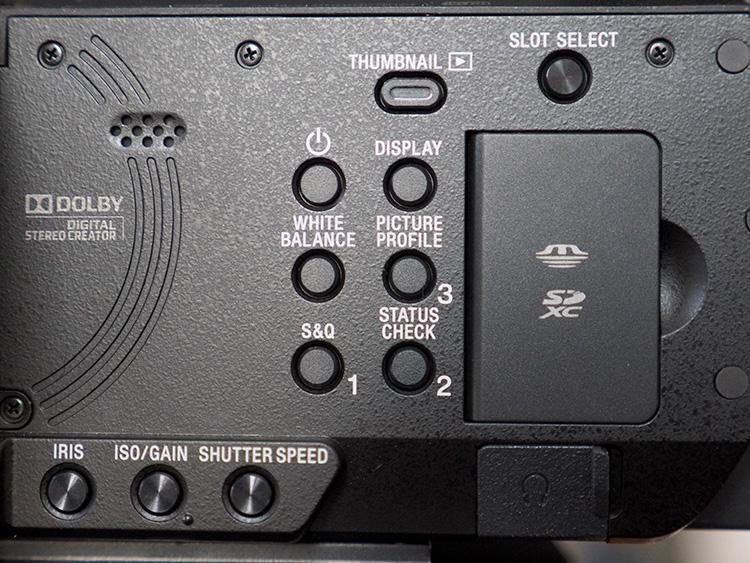 Sony NX80 - przyciski funkcyjne