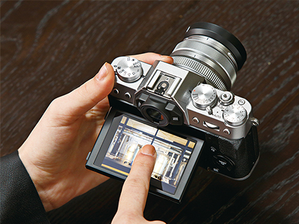 migawka elektroniczna fujifilm x-t20 ekran