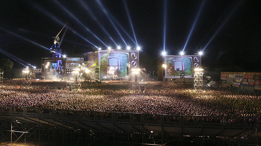 Ujęcie z koncertu hiperfokalna