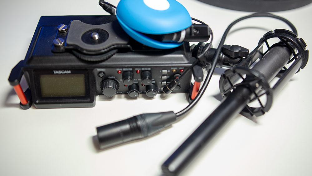 Rejestrator i mikrofony