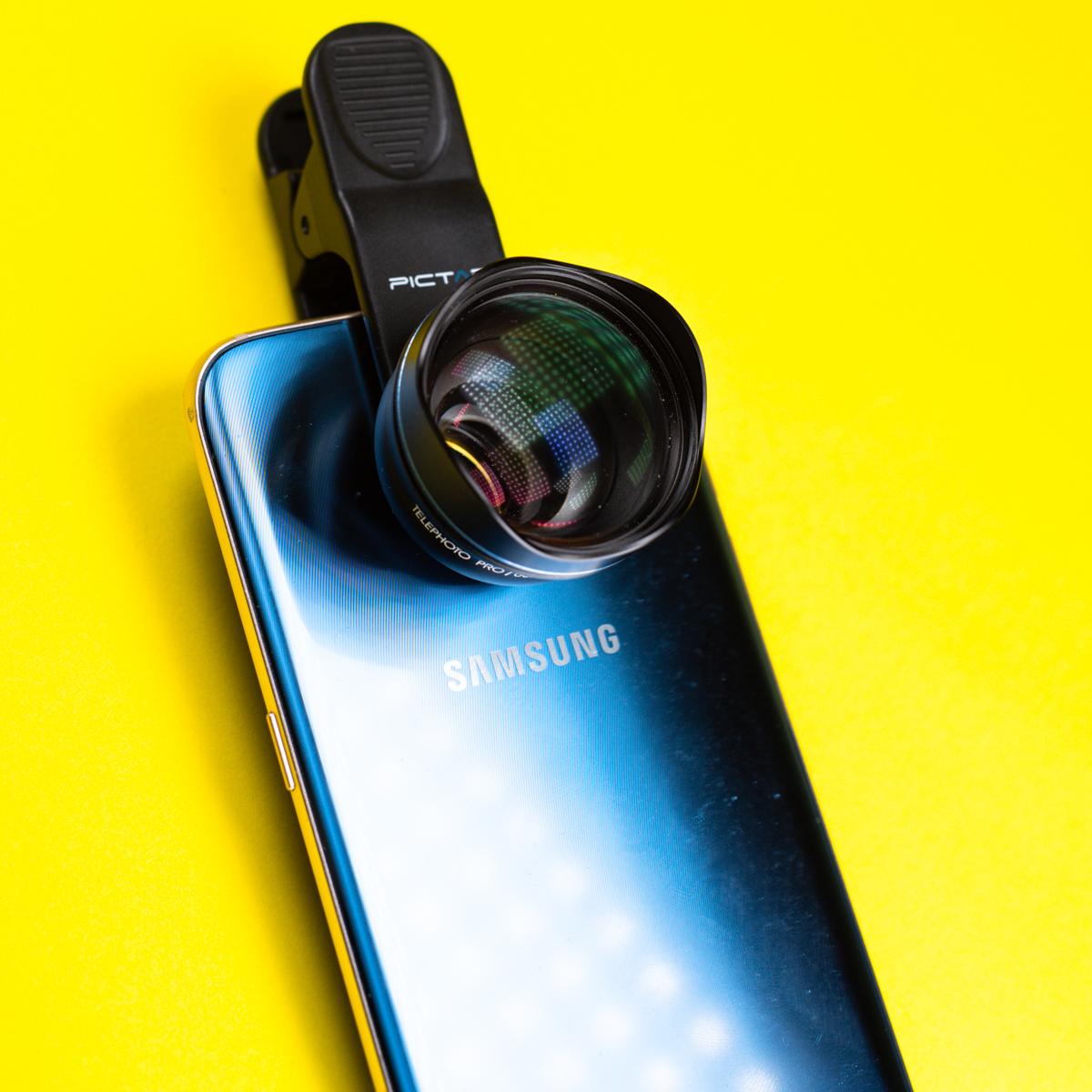 obiektyw do aparatu w smartfonie