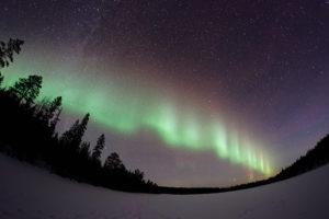 fotografowanie zima niebo rybie oko