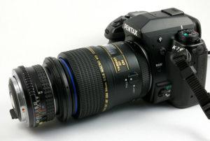 makrofotografia odwrotnego dwa obiektywy