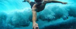 selfie stick pod woda