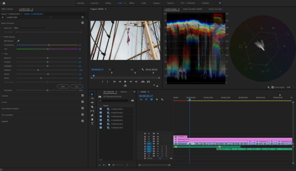 Adobe Premiere Pro CC- widok zaawansowany
