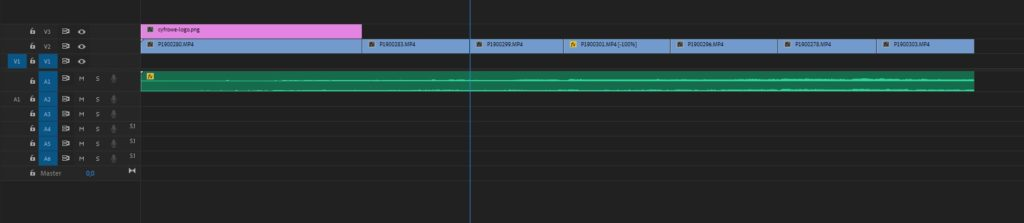 Premiere Pro - Uporządkowane pliki na lini czasu