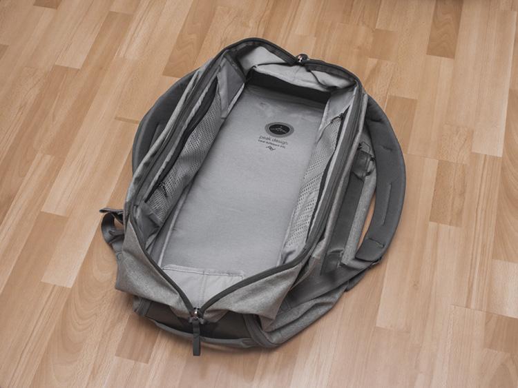 peak design duffel 65 pakowanie