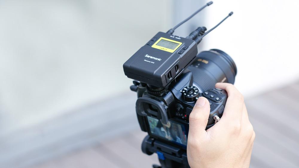 Odbiornik systemu Saramonic UwMic9 na aparacie