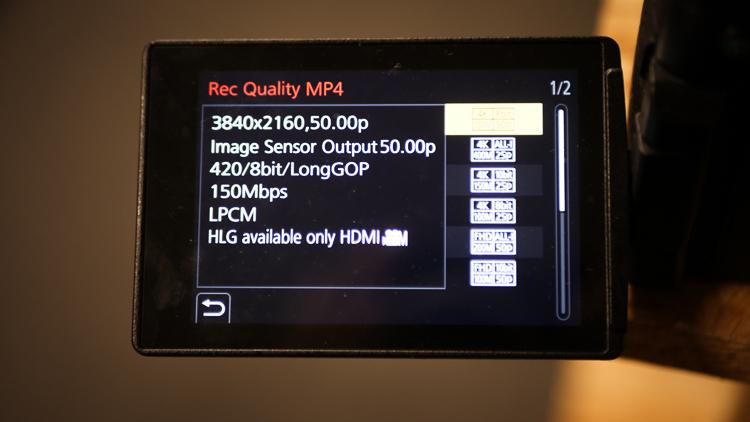 Opcje nagrywania - Panasonic Lumix DC-GH5