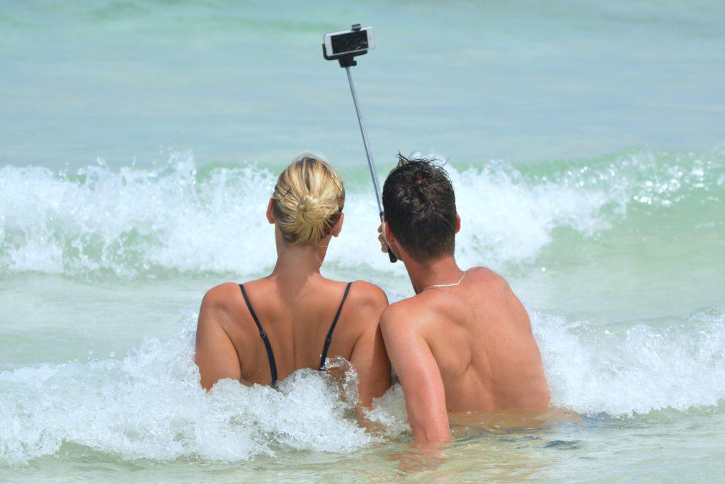 Smartfon na kijku do selfie