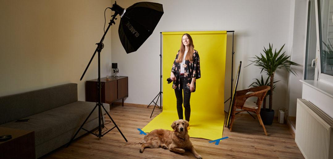 Tanie profesjonalne studio fotograficzne w mieszkaniu