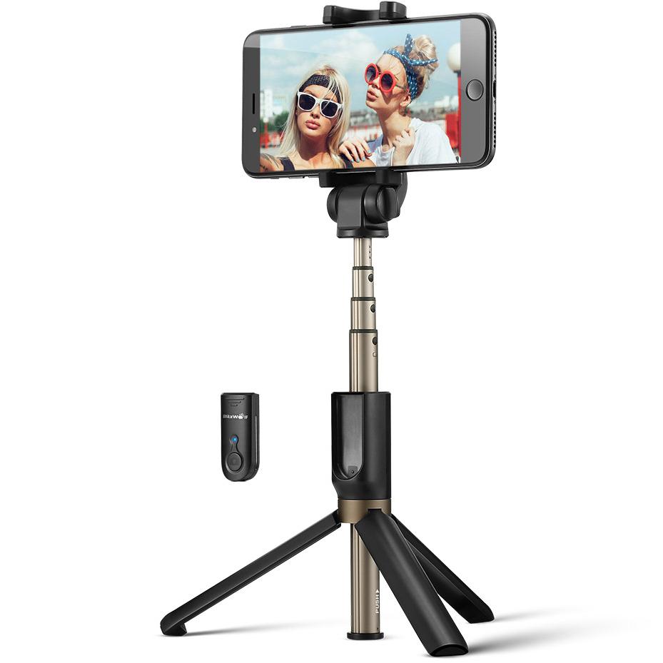 W tej kategorii cenowej mamy, np. BliztWolf BS3 wykonany z aluminium, z Bluetooth i pilotem do wyzwalania zdjęć. Jest również tripodem, więc można go używać do wszelkiego rodzaju aktywności w social mediach i tworzenia filmików.