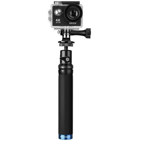 Selfie stick BlitzWolf BW-BS0 plasuje się w niższej półce cenowej, nie ma zbyt wielu bajerów ale, jest wytrzymały, ma prostą budowę i jest kompatybilny z GoPro. Nie zrobimy z niego statywu, ale dla podróżnika nagrywającego dużo z ręki sportową kamerą będzie świetnym i wygodnym rozwiązaniem.