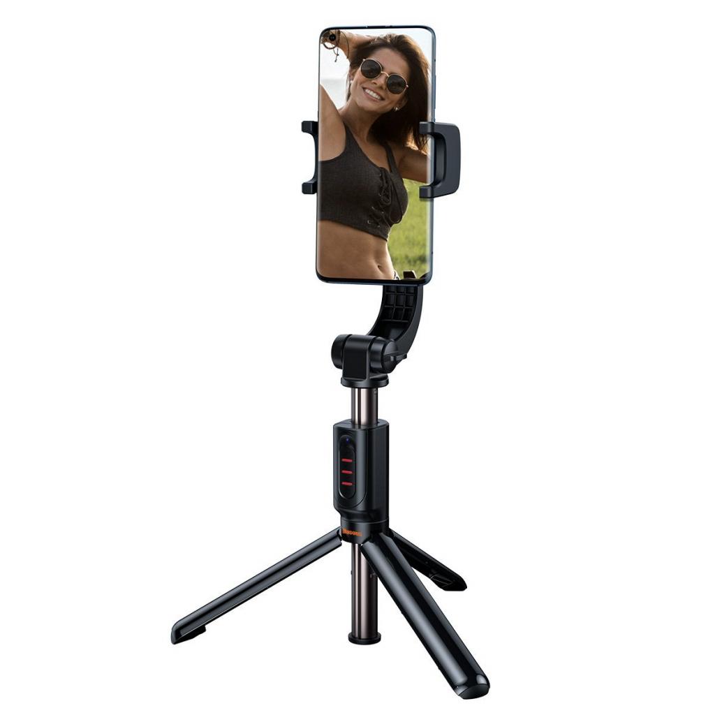 Baseus Lovely to selfie stick, gimbal i tripod w jednym. Będzie doskonale stabilizował smartfona przy nagrywaniu w ruchu, posłuży do robienia zdjęć z ręki i można postawić go na stabilnych nóżkach. Dodatkowo posiada pilota działającego na 10 metrów i oczywiście Bluetooth.