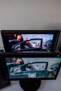 Rzut z góry na wybrane monitory. Fot. Jarosław Respondek