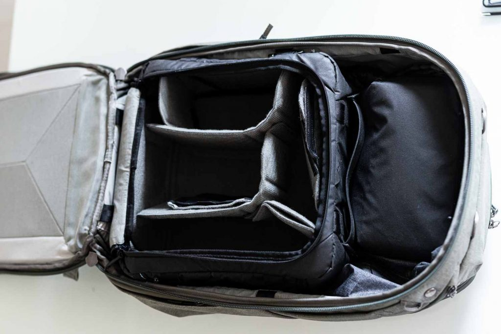 peak design travel backpack camera medium cube